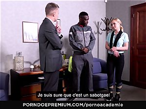 pornography ACADEMIE - ass fucking threeway with ash-blonde college girl