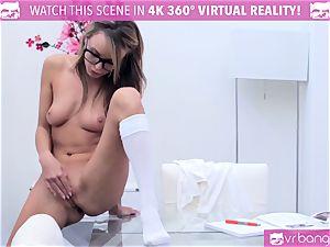 horny Pristine brim fumbling her fuckbox while investigating