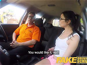 fake Driving school scorching Italian nymphomaniac minx