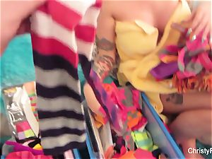 Behind the scenes joy with Christy Mack